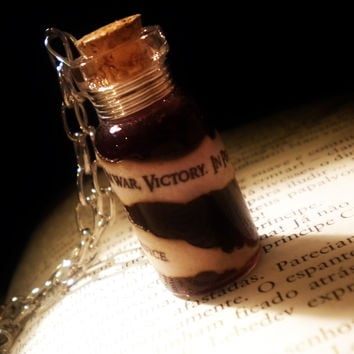 Grey Warden Oath Pendant - Bottle Vial Necklace - Darkspawn Blood Pendant Version 2