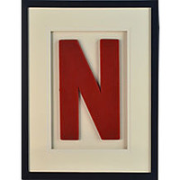 Framed Red Letter