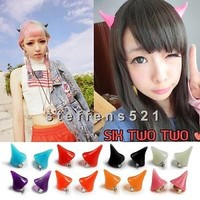 New Lady Horror Cosplay Costume Little Devil fluorescent Horns hairpin Hair Clip