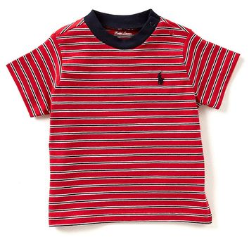 Ralph Lauren Childrenswear Baby Boys 3-24 Months Short-Sleeve Striped Tee | Dillards