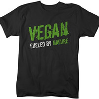 Shirts By Sarah Men's Vegan T-Shirt Fueled By Nature Grunge Style Vegan Shirts