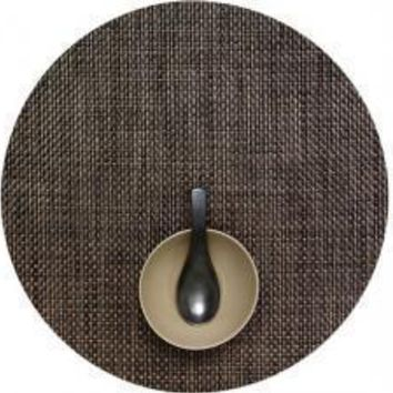 CHILEWICH Basketweave Round  Placemat S/4 | Earth