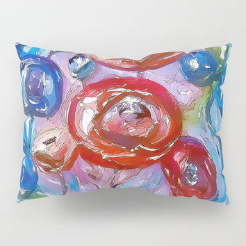 Whimsical Floral Pillow Sham by Lena Owens/OLenaArt