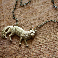 Thrill of the Hunt Fox Necklace