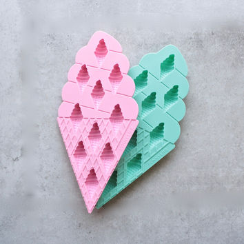 sunnylife - Ice Cream Ice Trays 2 Set - Pink and Turquoise
