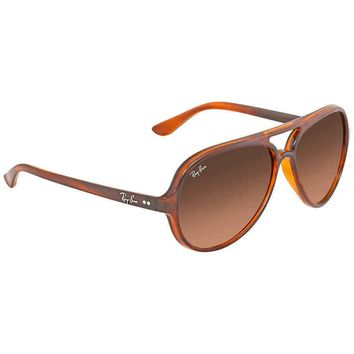 Ray Ban Cats 5000 Pink, Brown Gradient Round Men's Sunglasses RB4125 820/A5 59