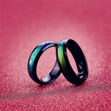 Titanium enamel eramic ring the rings for women men jewelry anel lord of anillos aneis stainless steel retro engagement wedding