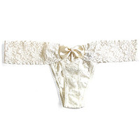 Hanky Panky Bridal Pearl Low-Rise Thong - Marshmallow