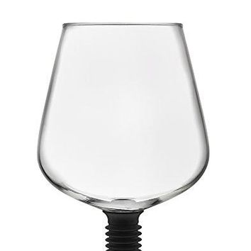 Godinger 22103 Chugmate Wine Glass Topper the Goblet to Drink Straight from the Bottle 8 oz Clear