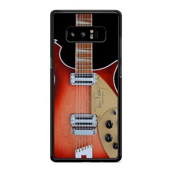 Tom Petty Signature In Fireglo Guitar Samsung Galaxy Note 8 Case