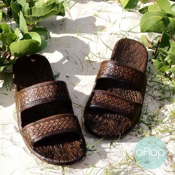 Dark Brown Jandals ® -- Pali Hawaii Hawaiian Jesus Sandals
