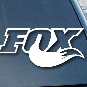 Fox Racing Fox Tail Logo Vinyl Sticker Decal Car Truck Windon Wall Laptop notebook