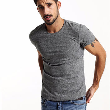 Summer Collection Men's Short-sleeved  skinny T-shirt - Different Colors and Sizes