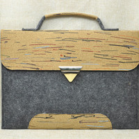 Laptop Briefcase, Macbook Air 13 Inch Handbag, Portfolio with handle, Large Tote Bag, Felt Laptop Bag, L1G524