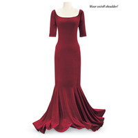 Crimson Velvet Dress - Women's Clothing & Symbolic Jewelry – Sexy, Fantasy, Romantic Fashions