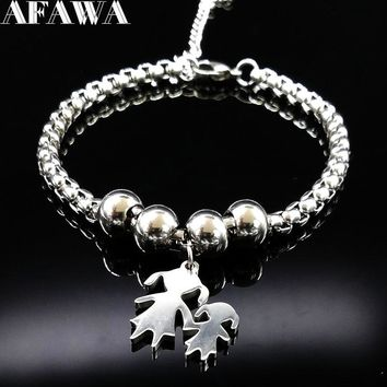 Mother and Daughter Stainless Steel Bracelet