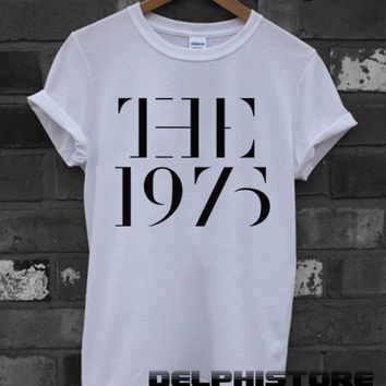 the 1975 shirt the 1975 band t-shirt printed black and white unisex size (DL-37)