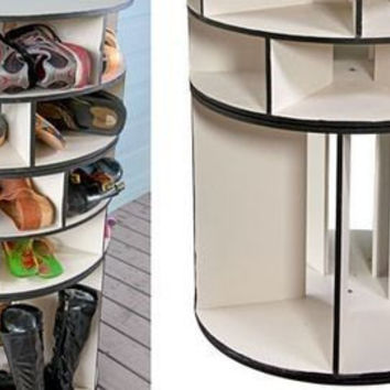 Lazy Susan Shoe Rack - 3 Tier - Stores 28 to 34 Pair - FREE SHIPPING!