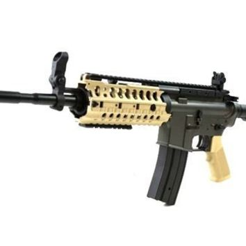 JG Airsoft M4 S-System Full Metal Gearbox Desert Tan AEG Rifle w/ Integrated RIS and High Performance Tight Bore Barrel - Newest Enhanced Model