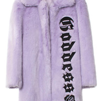 VFILES SHOP | GODDESS FAUX FUR COAT by @HyeinSeo
