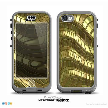 The Warped Gold-Plated Mosaic Skin for the iPhone 5c nüüd LifeProof Case