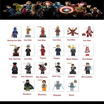 Legoing Marvel DC Super Heroes Action Figures Iron Man Ant-Man Ghost IronMan Pepper Building Blocks Legoing Marvel Toys For Kids
