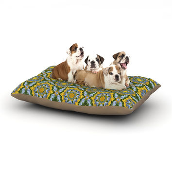 "Alison Soupcoff ""Sunflower"" Blue Yellow Dog Bed"