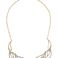 Brillant gold-tone crystal necklace   Noir Jewelry   US   THE OUTNET