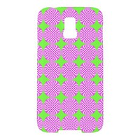Mod pink green circle patte Samsung Galaxy S5 Case