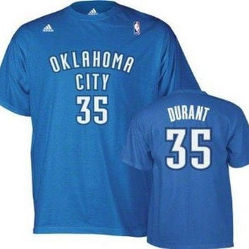 Kevin Durant Oklahoma City Thunder NBA Adidas player t-shirt NWT OKC KD 35