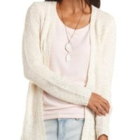 Chunky Open Front Cardigan Sweater by Charlotte Russe - Ivory