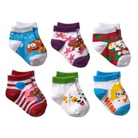 Bubble Guppies 6-pk. Crew Socks - Toddler, Size: 2T-4T (White)