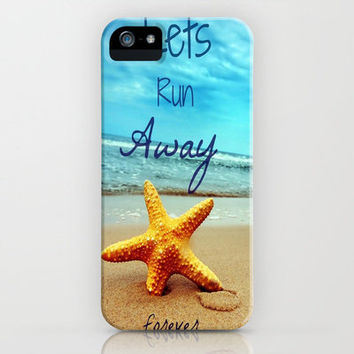 Lets run away forever iPhone Case by Kristi Kaz | Society6