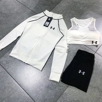 Under Armour Casual sportswear female autumn installs the new fashion hoodie three-piece