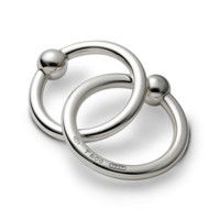Tiffany & Co. 1837 Double Teething Ring Rattle