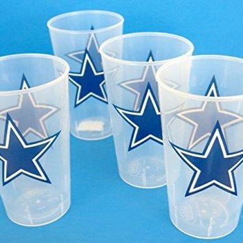 Dallas Cowboys Giant drink cups  great for tailgate and beer parties Giant cups are made from thick unbreakable reusable plastic over 5quot tall Holds 16 oz