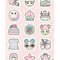 PINK ONLY STICKER SHEET
