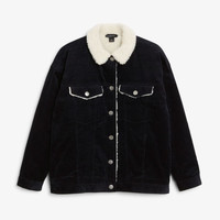 Lined utility jacket - Black magic - Coats & Jackets - Monki GB