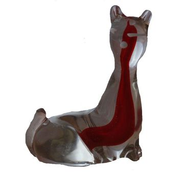Pre-owned Murano Glass Cat Sculpture