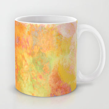 PASTEL IMAGININGS 3 Colorful Pretty Spring Summer Orange Yellow Peach Abstract Watercolor Painting Mug by EbiEmporium