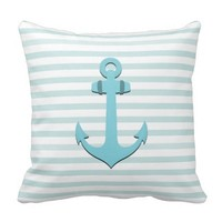 Nautical Anchor Throw Pillow