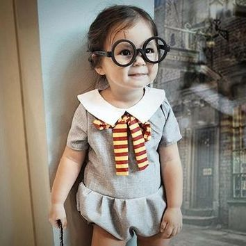 New Climbing Clothes Harry Potter Super Cute Girl Jersey Gray Conjoined Clothes European and American Style Summer Hot Selling