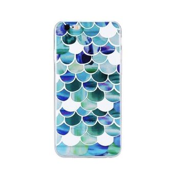 ONETOW Day-First? Beautiful Mermaid Scales Ultra Thin Soft Tpu Phone Case