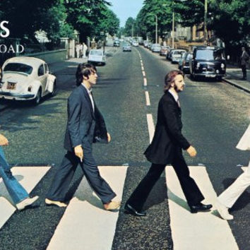 NMR 24547 Beatles Abbey Road Decorative Poster