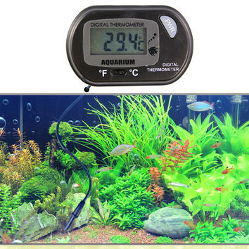 LCD Display Digital Sensor Thermometer Wired Electric Aquarium Fish Aquarium Thermometer Fish Tank Pet Supplies FEN#