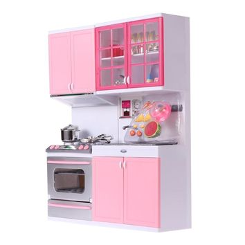 Plastic Kitchenware Playing House Kitchen Set For Kids Girls