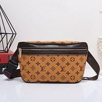 Louis Vuitton Women Shopping Leather Purse Waist Bag Single-Shoulder Bag Crossbody
