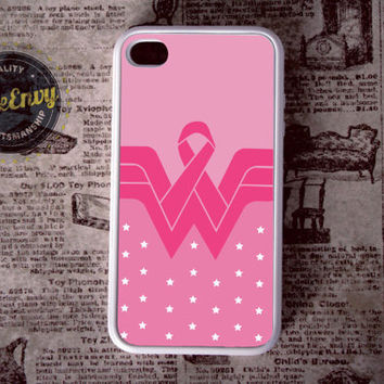 Breast Cancer Wonder Woman Inspired iPhone 4 / 4s case