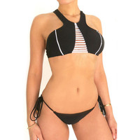 Sexy New Arrival Hot Beach Summer Swimsuit Stylish Black Swimwear Design Bottom & Top Bikini [4914905732]