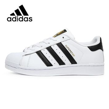 PEAPON ADIDAS Original  New Arrival SUPERSTAR Black White Womens Skateboarding Shoes Comfortable Street All Season For Women#C77154